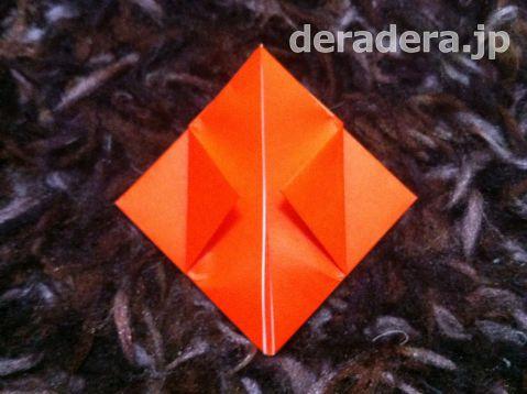 ジャックオランタン 作り方 折り紙06