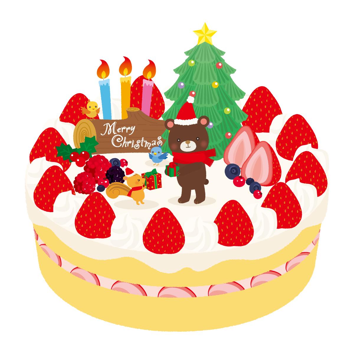 クリスマスケーキ 画像 無料 に対する画像結果