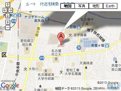愛知県名古屋市・晴明神社の地図