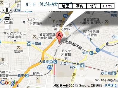 愛知県名古屋市・山田天満宮の地図
