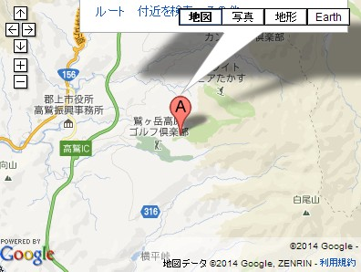 鷲ヶ岳スキー場の地図
