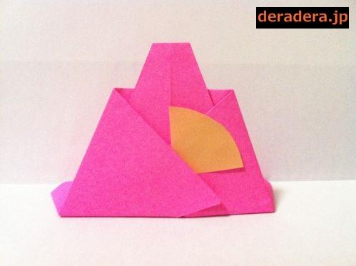 折り紙 お雛様 折り方 簡単09