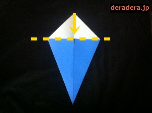 折り紙 お雛様 折り方 簡単12