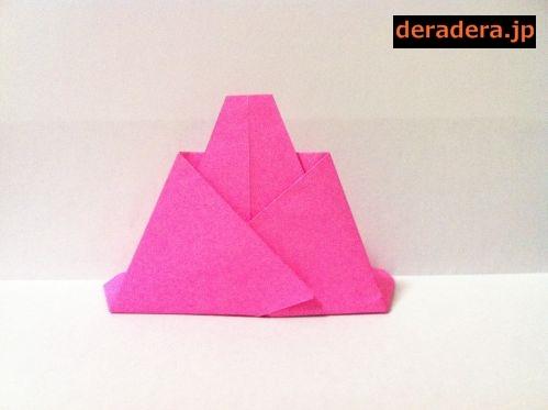 折り紙 お雛様 折り方 簡単08
