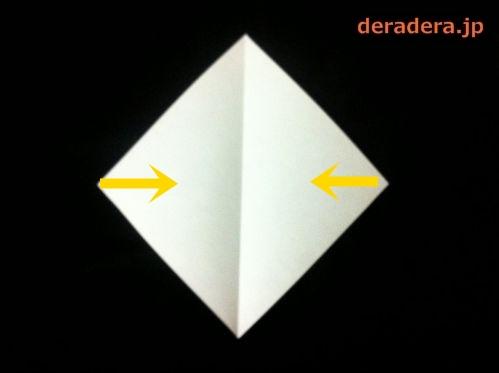 折り紙 お雛様 折り方 簡単02